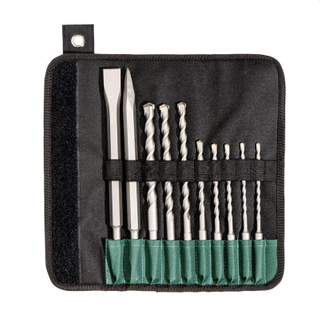 10 Piece SDS Plus Masonry Drilling Bits & Fitting Steel Set